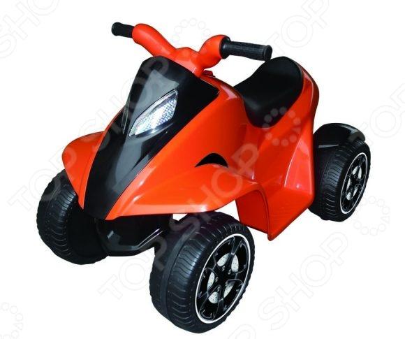 Квадроцикл детский электрический Пламенный Мотор СТ-719 ORДетские электромобили<br>Квадроцикл детский электрический Пламенный Мотор СТ-719 OR предназначен для таких маленьких, но уже таких активных малышей. Модель приводится в движение при помощи мощного электромотора и может развивать скорость до 3 км час. Ребенку достаточно нажать ножкой на педаль и квадроцикл устремится вперед. Квадроцикл детский электрический Пламенный Мотор СТ-719 OR оснащен эргономичным сидением и рассчитан на максимальную нагрузку в 20 кг. Световые и звуковые сигналы еще больше роднят эту машину с ее старшими братьями . Управление подобным транспортным средством способствует развитию крупной и мелкой моторики, формирует мускулатуру, влияет на координацию движений, учит ориентироваться на местности и принимать осмысленные решения. Игрушка поможет вашему крохе ощутить себя настоящим водителем. Защиту от переворачивания гарантируют широкие колеса. Не упустите шанс порадовать маленького гонщика замечательным подарком!<br>