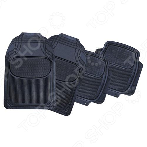 Набор ковриков Автостоп AB-1005 прекрасно защитят салон вашего автомобиля от случайно вылитых жидкостей и загрязнений в любое время года. Они изготовлены из мягкого, легкого и эластичного материала и не имеют запаха. Кроме того, качественные оригинальные коврики обеспечат комфорт ногам водителя и пассажиров. В набор входят 4 резиновых коврика размером 74х50 см и 46х45 см.