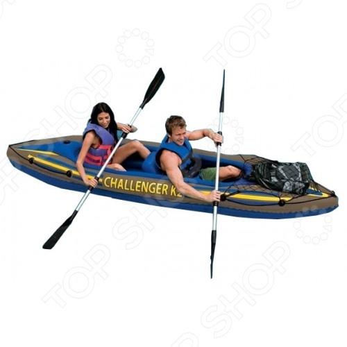 Байдарка надувная Intex «Челленджер К2» 68306 лодка надувная intex челленджер 2 68367