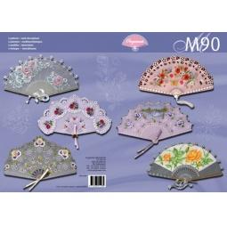 Купить Набор схем для парчмента Pergamano M90 Роскошные веера