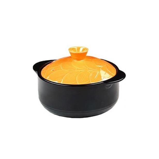 фото Кастрюля керамическая Hans&Gretchen Baum. Цвет: оранжевый. Объем: 1,6 л. Диаметр: 18 см