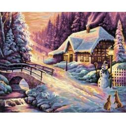 Купить Набор для рисования по номерам Schipper «Зима»