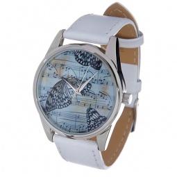 Купить Часы наручные Mitya Veselkov «Бабочки и ноты» MV.White