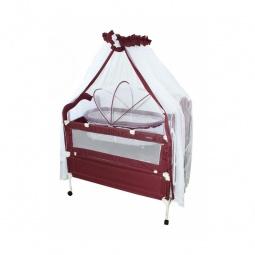 фото Кроватка-трансформер детская Geoby 05TLY900. Цвет: белый, бордовый