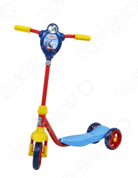 Самокат трехколесный 1 Toy «Томас и его Друзья» самокат детский трехколесный 1 toy фиксики со светящимися колесами цвет голубой т58463