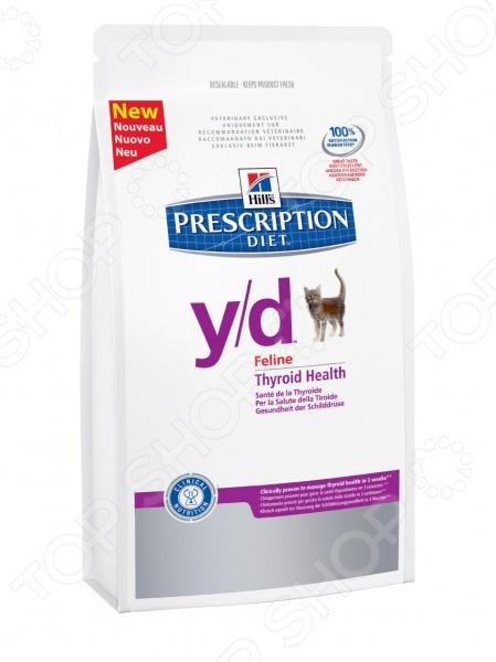 Корм сухой диетический для кошек Hill's Y/D Prescription Diet Feline