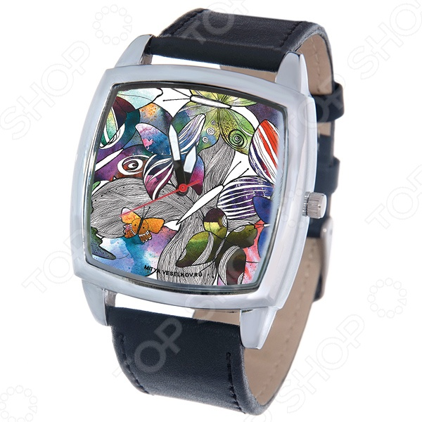 Часы наручные Mitya Veselkov «Акварельные бабочки» CH