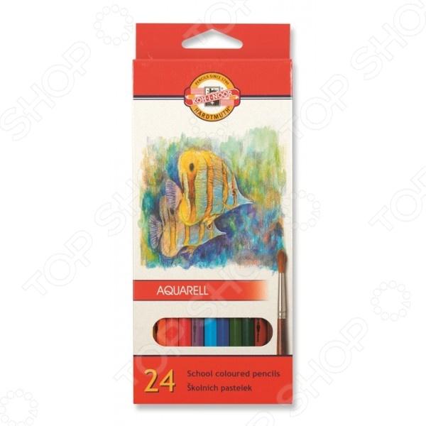 Набор карандашей акварельных Koh-I-Noor «Рыбки»: 24 цвета