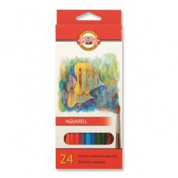 фото Набор карандашей акварельных Koh-I-Noor «Рыбки»: 24 цвета