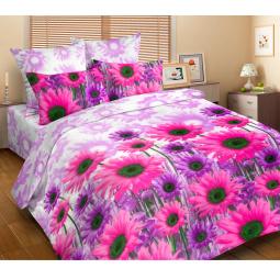 Комплект постельного белья DIANA P&W «Сиреневые ромашки». 1,5-спальный