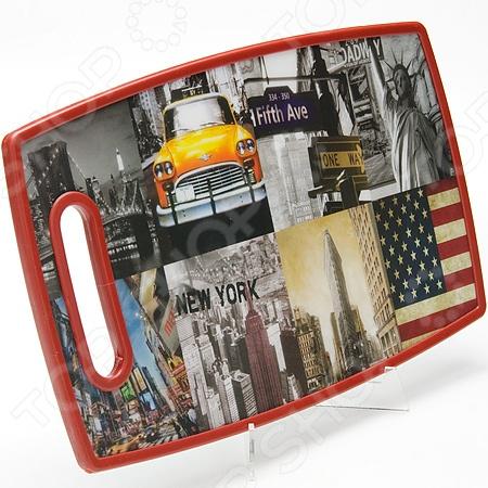 Доска разделочная Mayer&amp;amp;Boch New York Fifth AveРазделочные коврики и доски<br>Доска разделочная Mayer Boch New York Fifth Ave это традиционная доска из полипропилена и древесных волокон, которая является незаменимым предметом кухонной утвари. Полипропилен представляет из себя прочный и гибкий материал, который легко выдерживает ежедневные нагрузки в виде нарезки мяса, рыбы, и овощей. Кроме того, доска из этого материала экологически чистая и не оставит вредных частиц на пище. Для уверенности в чистоте продуктов на вашей кухне стоит использовать несколько досок для каждого вида пищи, отдельную для рыбы, овощей, мясных изделий и прочего.<br>