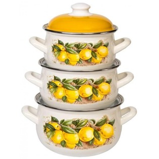 Купить Набор посуды Interos 15842 «Лимоны»