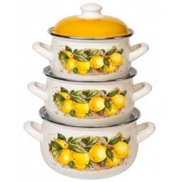 фото Набор посуды Interos 15842 «Лимоны»