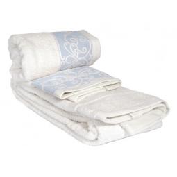 фото Комплект полотенец из махры Tete-a-Tete Т-МП-6463-04. Цвет: голубой