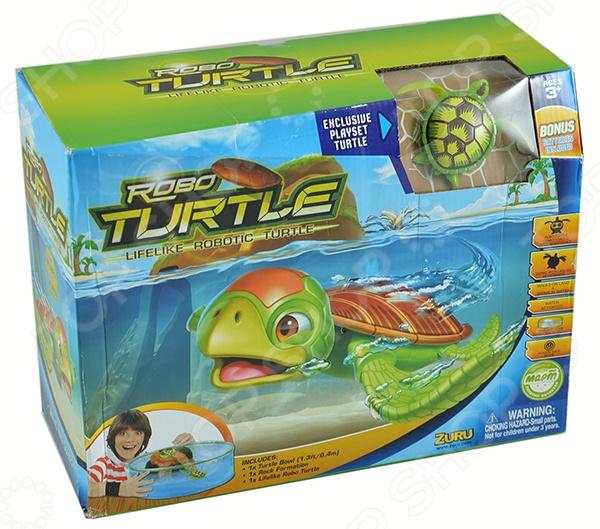 Игрушка интерактивная Robofish «РобоЧерепашка с аквариумом и островом»