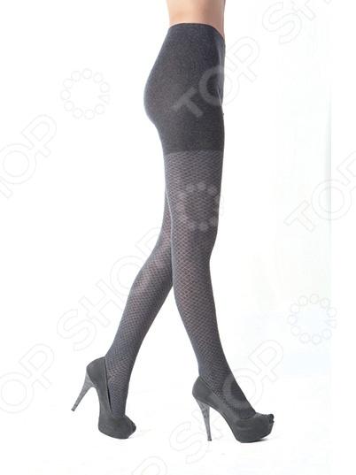 Колготки фантазийные Burlesco R52122. Цвет: серый