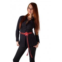 фото Рубашка Mondigo 9609. Цвет: черный. Размер одежды: 44