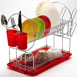 фото Сушилка для посуды Mayer&Boch Pretty. Цвет: красный