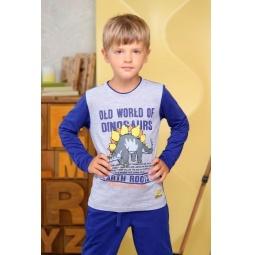 фото Футболка для мальчиков Detiland AW15-UKN-BTL-021. Цвет: серый меланж. Рост: 110 см