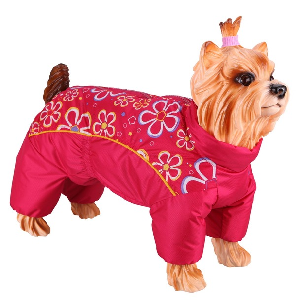 фото Комбинезон-дождевик для собак DEZZIE «Мальтийская болонка». Цвет: красный. Материал подкладки: нет