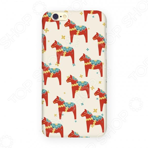 Чехол для iPhone 6 Mitya Veselkov «Много скандинавских лошадок» чехол для iphone 6 mitya veselkov много скандинавских лошадок