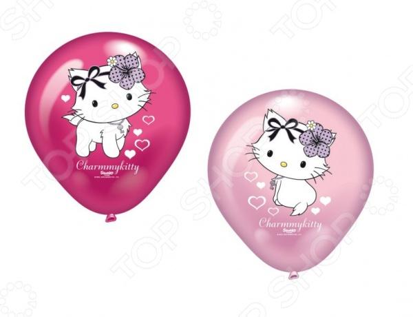 Набор надувных шариков Everts «Charmmy Kitty c сердечками»