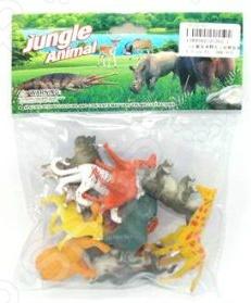 Набор фигурок Shantou Gepai 2C262-1 Jungle animalИгрушечные животные<br>Набор Shantou Gepai 2C262-1 Jungle animal это замечательный подарок для вашего малыша. В комплекте вы найдете 12 фигурок с размерами 4 и 8 см. Для увеличения сходства с прототипами, зверюшки выполнены с высокой степенью детализации, а значит прекрасно подойдут ребенку для изучения строения их тел и познакомят его с ареалом обитания этих грациозных диких животных. Данный набор украсит любую детскую комнату и принесет радость и веселье во время игр. Игрушки изготовлены из прочного пластика, который абсолютно безвреден для ребенка. Набор фигурок Shantou Gepai 2C262-1 Jungle animal способствует развитию зрительной координации, воображения и мелкой моторики рук. Кроме того, тренируется наблюдательность, образное восприятие и логическое мышление.<br>