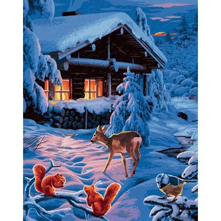 Купить Набор для рисования по номерам Schipper «Романтическая зимняя ночь»