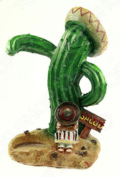 Подставка для бутылки «Мексиканская текила»Подставки для бутылок<br>Подставка для бутылки Мексиканская текила оригинальное и практичное изделие для размещения алкогольных напитков. Такая необычная подставка будет очень уместна во время какого-либо торжественного события или же романтического ужина. Она поможет по-новому взглянуть на вопрос сервировки праздничного стола и приятно удивит ваших гостей. Изделие выполнено из особого материала полистоун. Он практически ничем не отличается от настоящего камня, однако значительно более прочен, чем натуральная порода. Полистоун прекрасно переносит резкие перепады температур, не имеет постороннего запаха и не требует к себе особого ухода. Подставку из такого искусственного камня достаточно лишь раз в несколько дней протирать сухой мягкой тканью.<br>