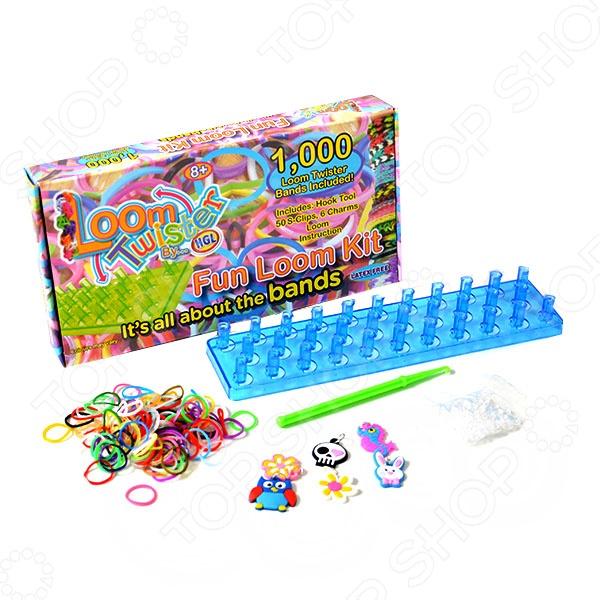 Набор цветных резинок для плетения фенечек Loom Twister SV11757