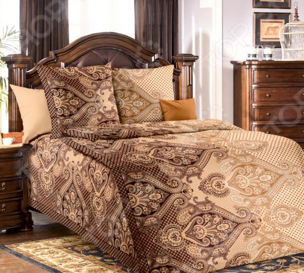 Комплект постельного белья Белиссимо «Агра». 1,5-спальныйПолутороспальные комплекты постельного белья<br>Комплект постельного белья Белиссимо Агра это сочетание прекрасного качества и стильного современного дизайна. Он внесет яркий акцент в интерьер вашей спальной комнаты, добавит ей элегантности и изысканности. В набор входит пододеяльник, простынь и две наволочки. Постельное белье выполнено из высококачественной бязи и украшено оригинальным принтом. Бязь представляет собой плотную хлопчатобумажную ткань полотняного переплетения. Она отлично зарекомендовала себя в пошиве постельного белья, благодаря своей воздухопроницаемости, легкости и устойчивости к истиранию. Ткани и готовые изделия производятся на современном импортном оборудовании и отвечают европейским стандартам качества. Рекомендуется стирать белье в деликатном режиме без использования агрессивных моющих средств.<br>