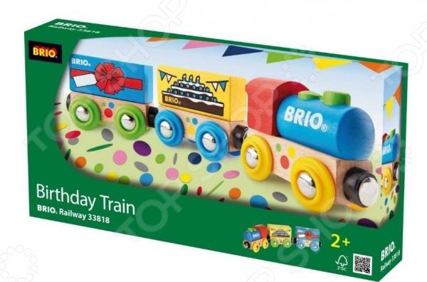 Паровозик игрушечный Brio «День Рождения»