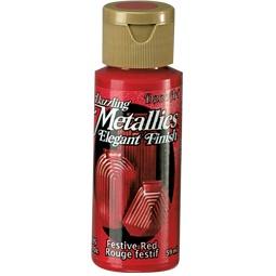 фото Краска акриловая праздничная DecoArt Dazzling Metallics. Цвет: красный