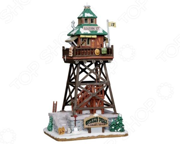 Домик керамический Lemax «Смотровая башня»Статуэтки и фигурки<br>Домик керамический Lemax Смотровая башня это уникальный домик от известного производителя керамики из Голландии. Домик изнутри светится встроенными лампочками, создавая впечатление, что внутри него есть жители. Даже самые мельчайшие детали воспроизведены очень точно и изящно, можно любоваться фигуркой как произведением искусства. Попробуйте собрать несколько домиком вместе и вы получите сначала деревню, а потом целый город! Стоит добавить фигурки людей, транспорт или деревья и вы сможете любоваться миниатюрной копией европейского городка, который находится прямо у вас в квартире. Этот сувенир может стать частью коллекции или просто удачным подарком для любого вашего знакомого!<br>