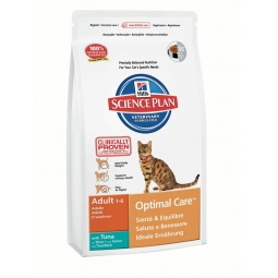 фото Корм сухой для кошек Hill's Science Plan Optimal Care с тунцом. Вес упаковки: 10 кг