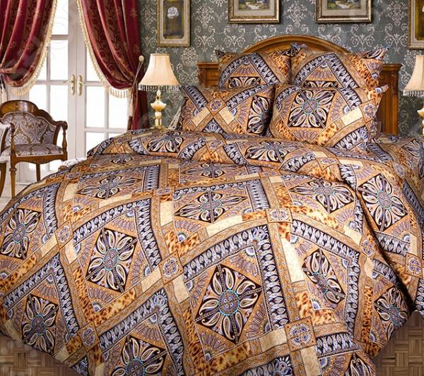 Комплект постельного белья Белиссимо «Персия». 2-спальный2-спальные<br>Комплект постельного белья Белиссимо Персия это незаменимый элемент вашей спальни. Человек треть своей жизни проводит в постели, и от ощущений, которые вы испытываете при прикосновении к простыням или наволочкам, многое зависит. Чтобы сон всегда был комфортным, а пробуждение приятным, мы предлагаем вам этот комплект постельного белья. Приятный цвет и высокое качество комплекта гарантирует, что атмосфера вашей спальни наполнится теплотой и уютом, а вы испытаете множество сладких мгновений спокойного сна. Комплект сшит из бязи. У такой ткани есть ряд преимуществ:  плотная ткань гарантирует длительный срок службы;  приятна на ощупь;  не деформируется и не теряет цвет даже после многочисленных стирок;  белье гигиенично, не вызывает аллергических реакций.<br>