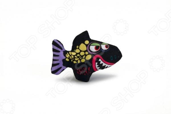 Игрушка для кошек Beeztees «Зубастая акула» комплекс для кошек угловой с полками лестницей и канатом beeztees 405770
