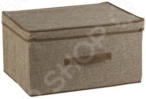 Короб с крышкой White Fox WHHH10-376 LinenКоробки. Ящики. Подставки<br>Короб с крышкой White Fox WHHH10-376 Linen предназначен для хранения текстиля, белья, одежды, различных аксессуаров или документов. Короб легко можно поместить в шкаф. С помощью сочетания нескольких коробов вы сможете оптимально организовать пространство в квартире, независимо от ее размеров. Короб можно легко перемещать с места на место, благодаря боковым ручкам.<br>