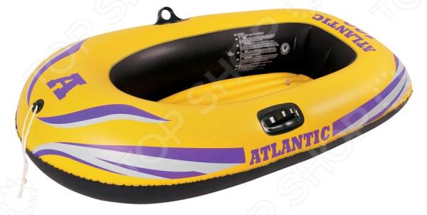 Лодка надувная Jilong Atlantic boat 100Лодки надувные<br>Лодка надувная Jilong Atlantic boat 100 незаменимый атрибут активного и незабываемого летнего отдыха. Легкая и прочная лодка выполнена из неармированного ПВХ, который отличается прекрасными эксплуатационными характеристиками и устойчивостью к бытовому истиранию. Изделие способно выдержать до 55 кг, поэтому оно идеально подойдет для детей и подростков. Надувной пол надежно удерживает лодку на плаву, поэтому вы сможете быть спокойными за безопасность своих детей. Для большего удобства предусмотрены надежные держатели для весел и уключины, которые позволят легко разместить весла, пока вы отдыхаете на воде. В комплекте предусмотрена самоклеящаяся заплатка для экстренного ремонта, а также трос для транспортировки.<br>