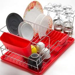 фото Сушилка для посуды Mayer&Boch Compact. Цвет: красный
