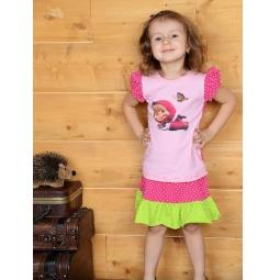 фото Футболка для девочек Detiland SS14-CVV-GTS-445. Цвет: розовый. Рост: 98 см