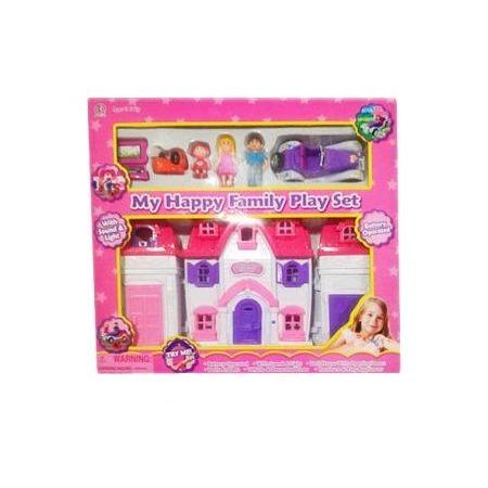 Купить Кукольный дом с аксессуарами Shantou Gepai Моя счастливая семья