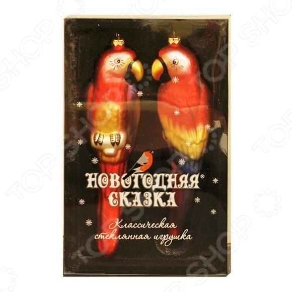 Набор елочных украшений Новогодняя сказка «Попугаи» 97714