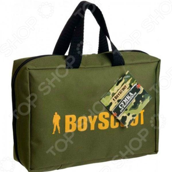 Сумка для медикаментов Boyscout 61436Дорожные аптечки<br>Boyscout 61436 это удобная и очень практичная сумка для медикаментов. Ее удобно брать с собой, если вы отправляетесь в путешествие или командировку. Модель открывается широко, предоставляя легкий доступ к содержимому. Сумка выполнена из высококачественных материалов и закрывается на молнию. Для удобства переноски имеются мягкие ручки.<br>