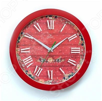 Часы настенные Вега П 1-1/7-286 «Яркие краски»Часы настенные<br>Настенные часы это элегантный и неотъемлемый элемент дизайна любого помещения. Правильно подобранные часы позволяют внести в общий интерьерный ансамбль некоторую изюминку и легкий штрих индивидуальности, собственного стиля. Поэтому к подбору такого значимого и функционального украшения надо подходить с умом. Настенные часы от бренда Вега настоящей находкой для тех, кто следит за трендами современной моды. Часы настенные Вега П 1-1 7-286 Яркие краски отлично впишутся в интерьер вашей гостиной, спальни, кухни или детской комнаты. Корпус кварцевых часов выполнен из качественного пластика, который гарантирует не только их легкость, но и практичность, легкий монтаж и уход. Циферблат данной модели оформлен стильным и красивым принтом. Эксклюзивный дизайн изделия позволит подчеркнуть оригинальность интерьера вашего дома и выразить вашу индивидуальность, а яркая и сочная расцветка превратит часы в настоящий источник хорошего настроения и вдохновения.<br>
