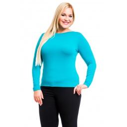 фото Кофта Mondigo XL 405. Цвет: изумрудный. Размер одежды: 52