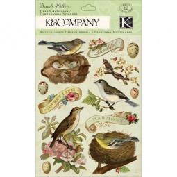 Купить Стикер-украшение K&Company «Птицы и Листья»