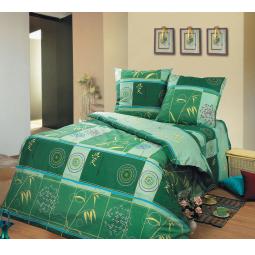 фото Комплект постельного белья Сова и Жаворонок «Икебана» 9129. Семейный