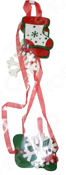 Подвес декоративный Новогодняя сказка «Валеночек с лентами»