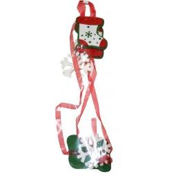 Купить Подвес декоративный Новогодняя сказка «Валеночек с лентами»